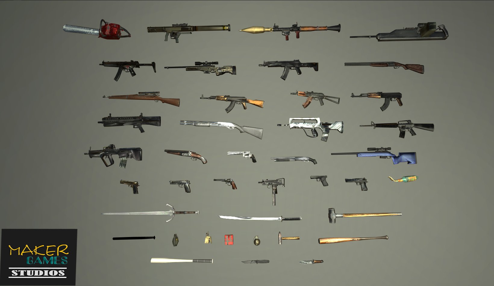 Realistic PBR Weapons Pack