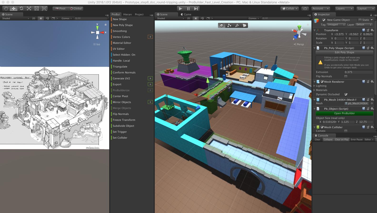 Unity引擎ProBuilder快速关卡建模实践+ProBuilder建关卡竞赛