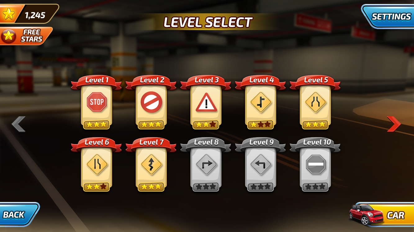 Level Screen UI