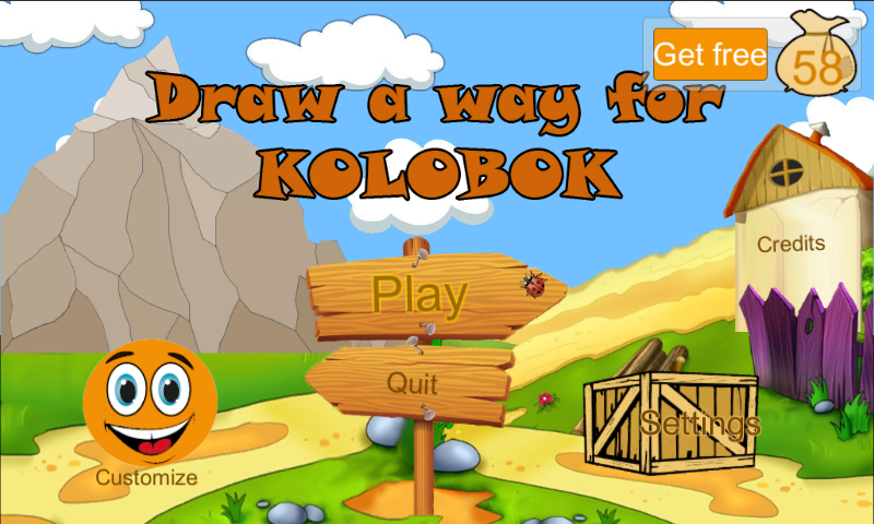 Draw-a-way for Kolobok