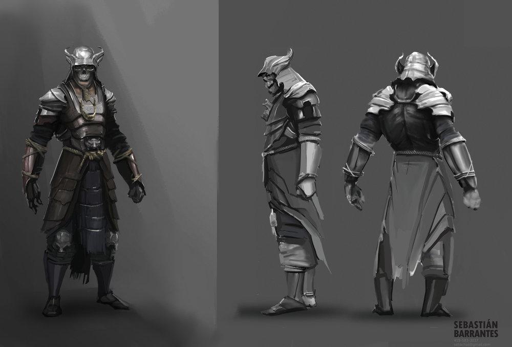 Skull Samurai Character Design