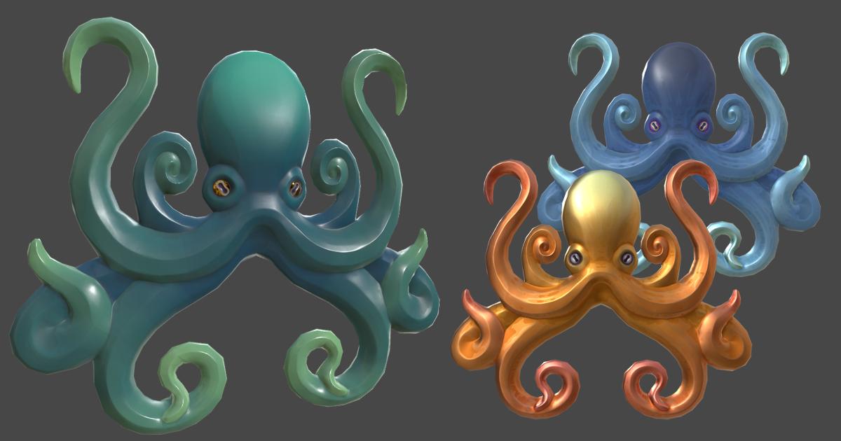 Octopus Ornament/Relief