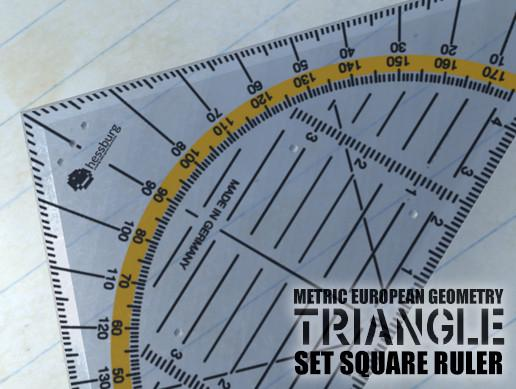 Triangle Set Square Ruler (protractor)