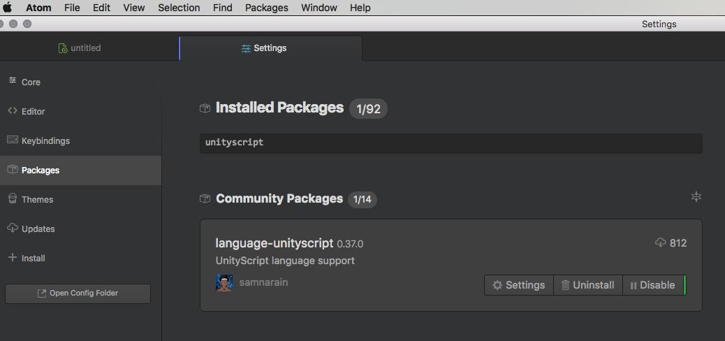 UnityScript Atom package