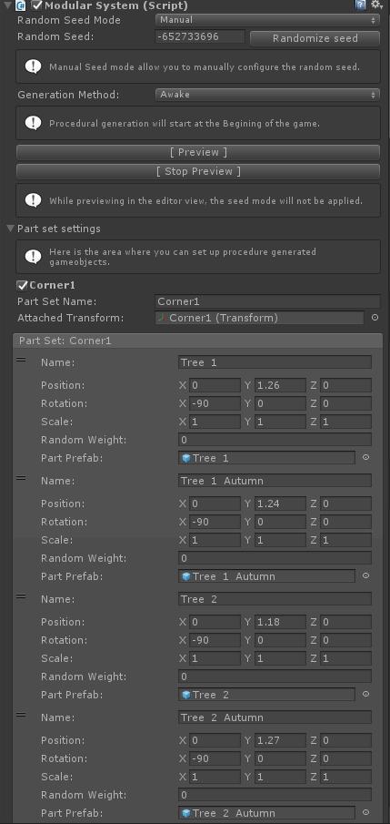 Unity Modular system