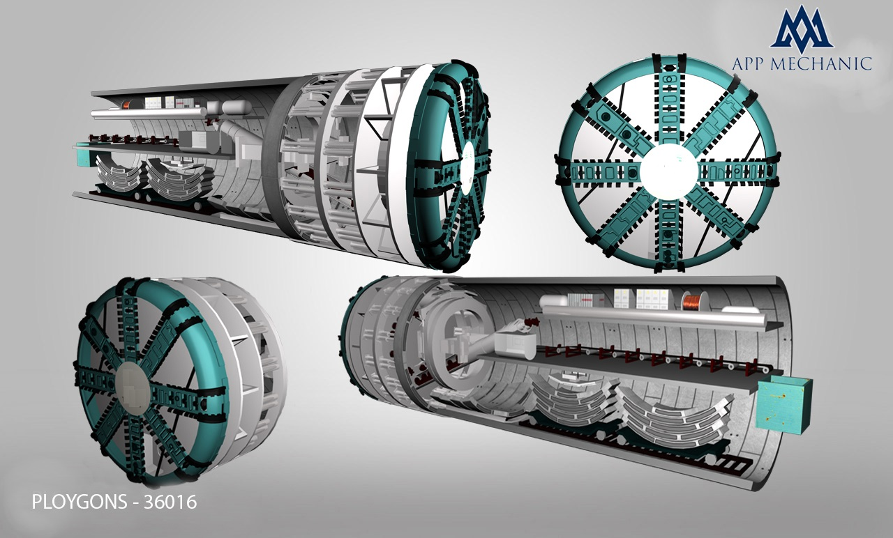 3D Model of Tunnel Boring Machine