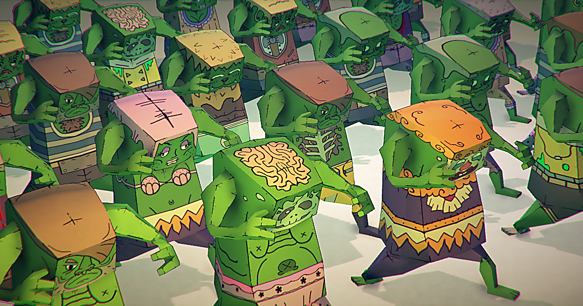 POLY STYLE - Cartoon Zombies Customizable Pack