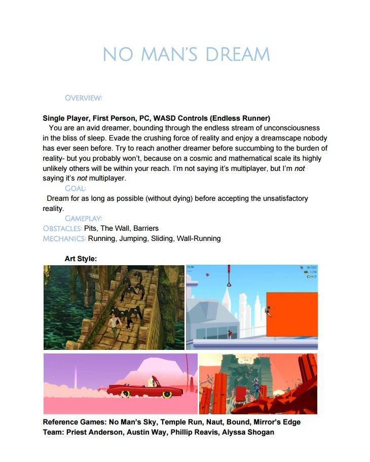No Man's Dream