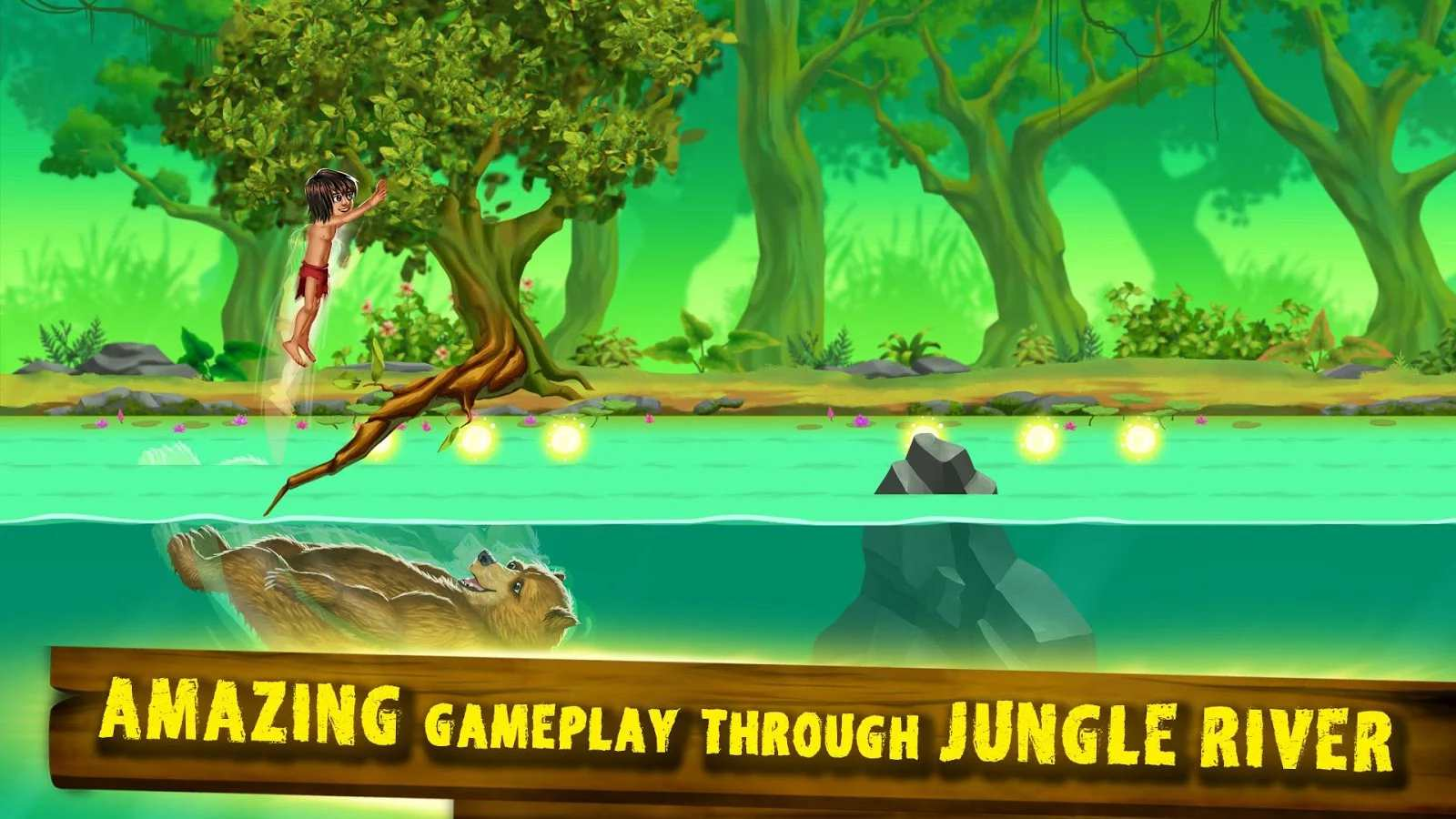 Mowgli Jump - Jungle Book Game