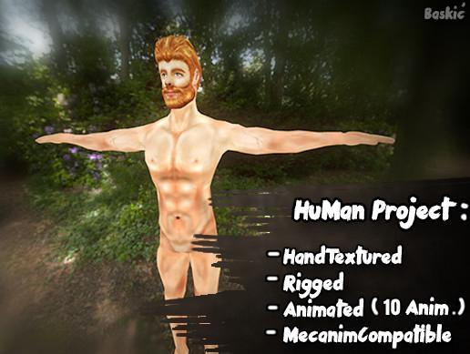 HuMan 3D Project [Animated/HandPainted]Male