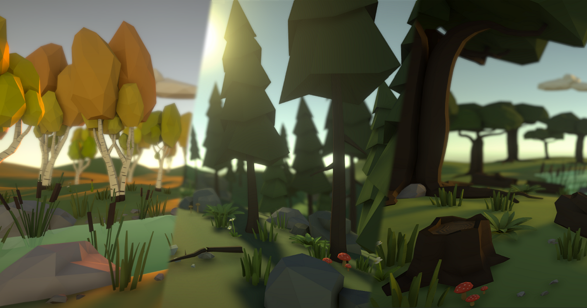 Low Poly Nature Environment