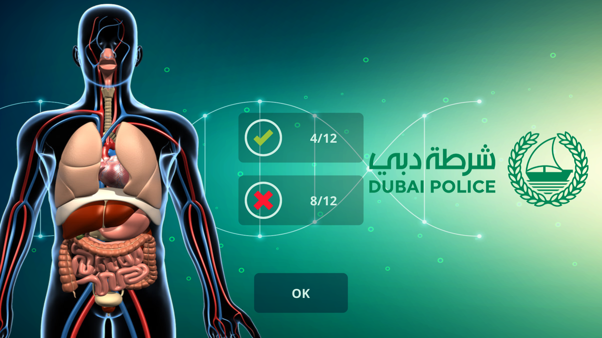 Anatomy Quiz (for Dubai Police)