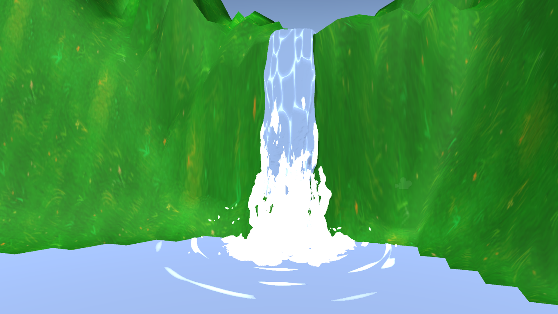 Guide how to create cartoon waterfall in Unity using Shader Forge