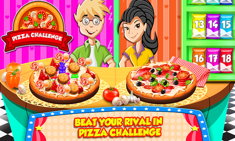 Yummy Pizza Challenge - A Food Challenge Game