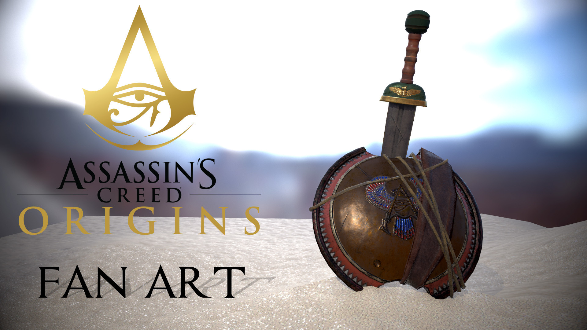 Shield and Sword (Assassin's Creed Fan Art)