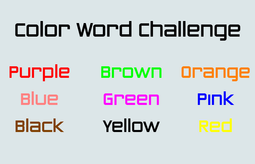 Color Word Challenge