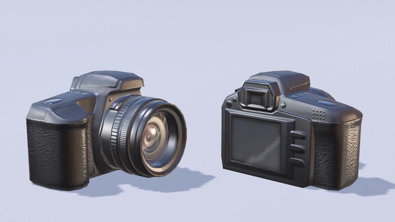 PBR Low Poly Camera