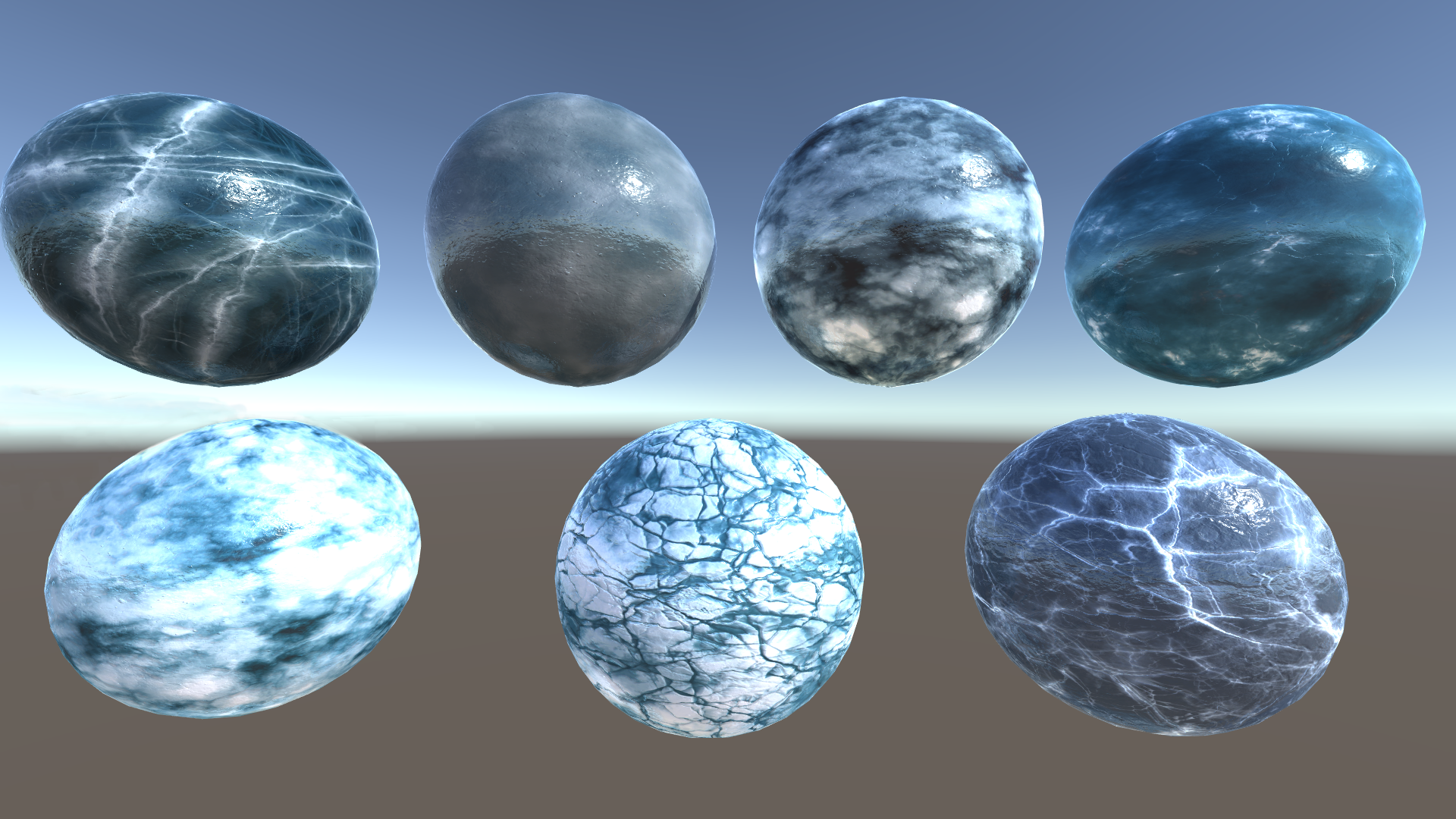 Ice World - Lake and Models shaders, textures