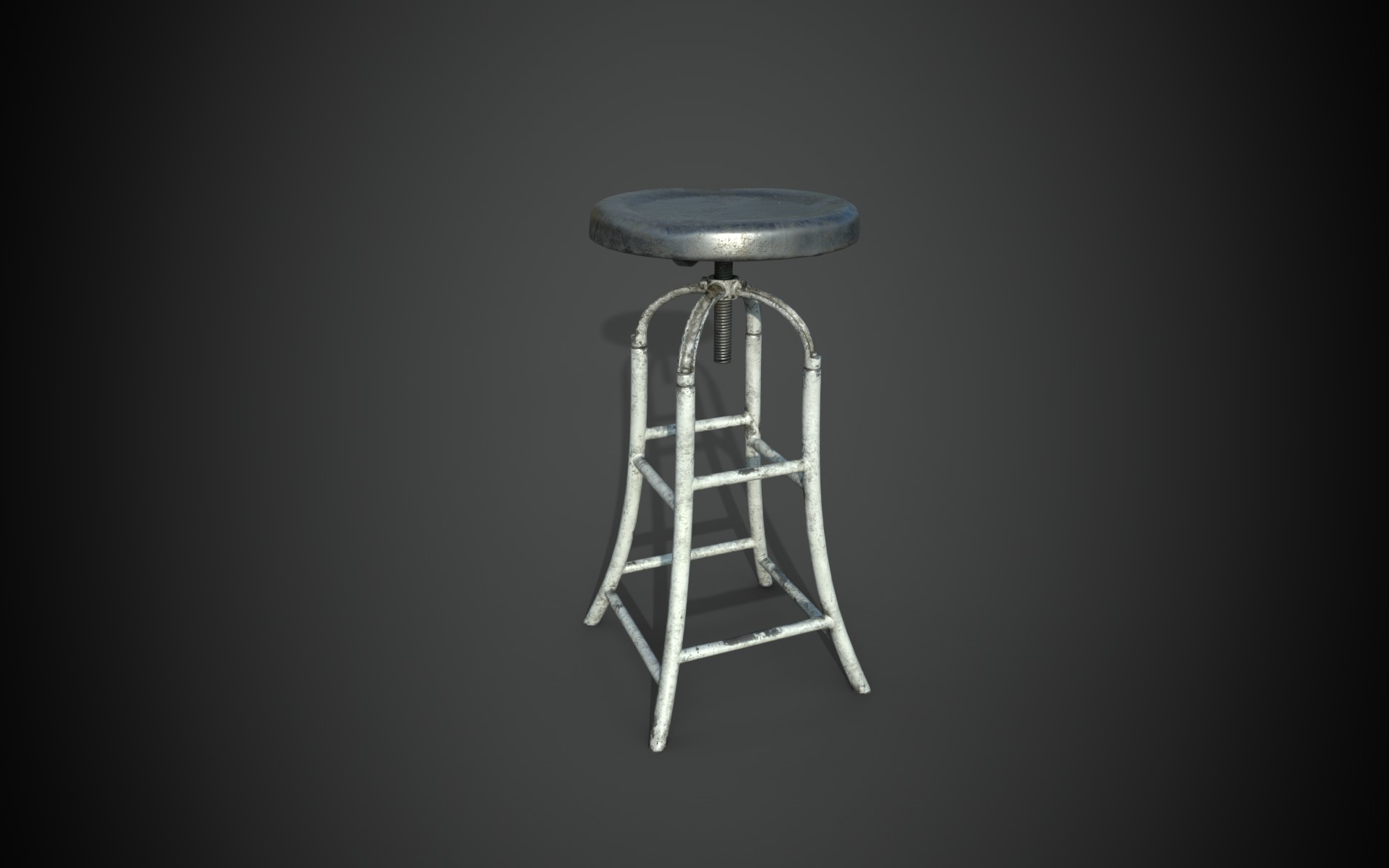 Metal stool from the 19th century