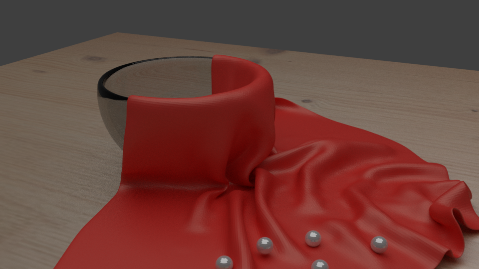 Cloth physics and material design using Blender