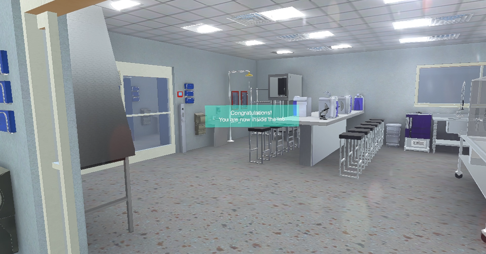 Laboratory VR - Training simulation