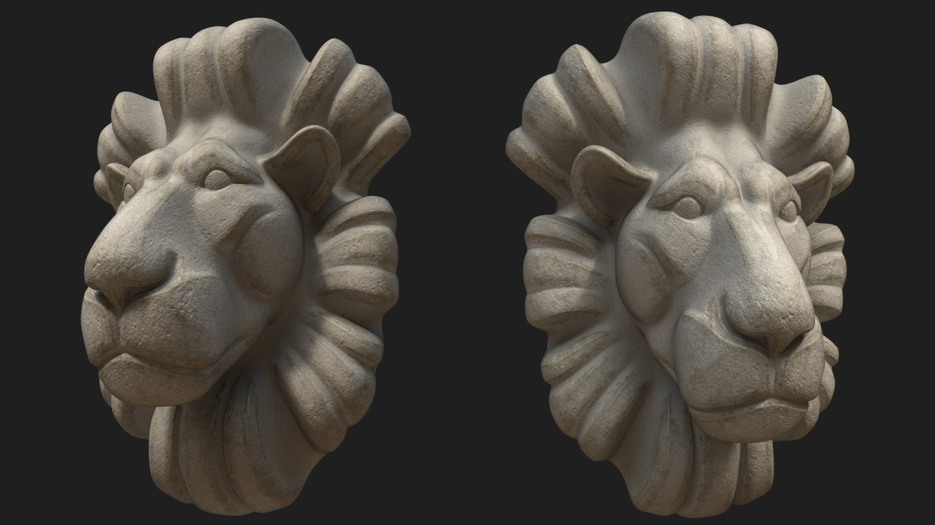 The Lion bust