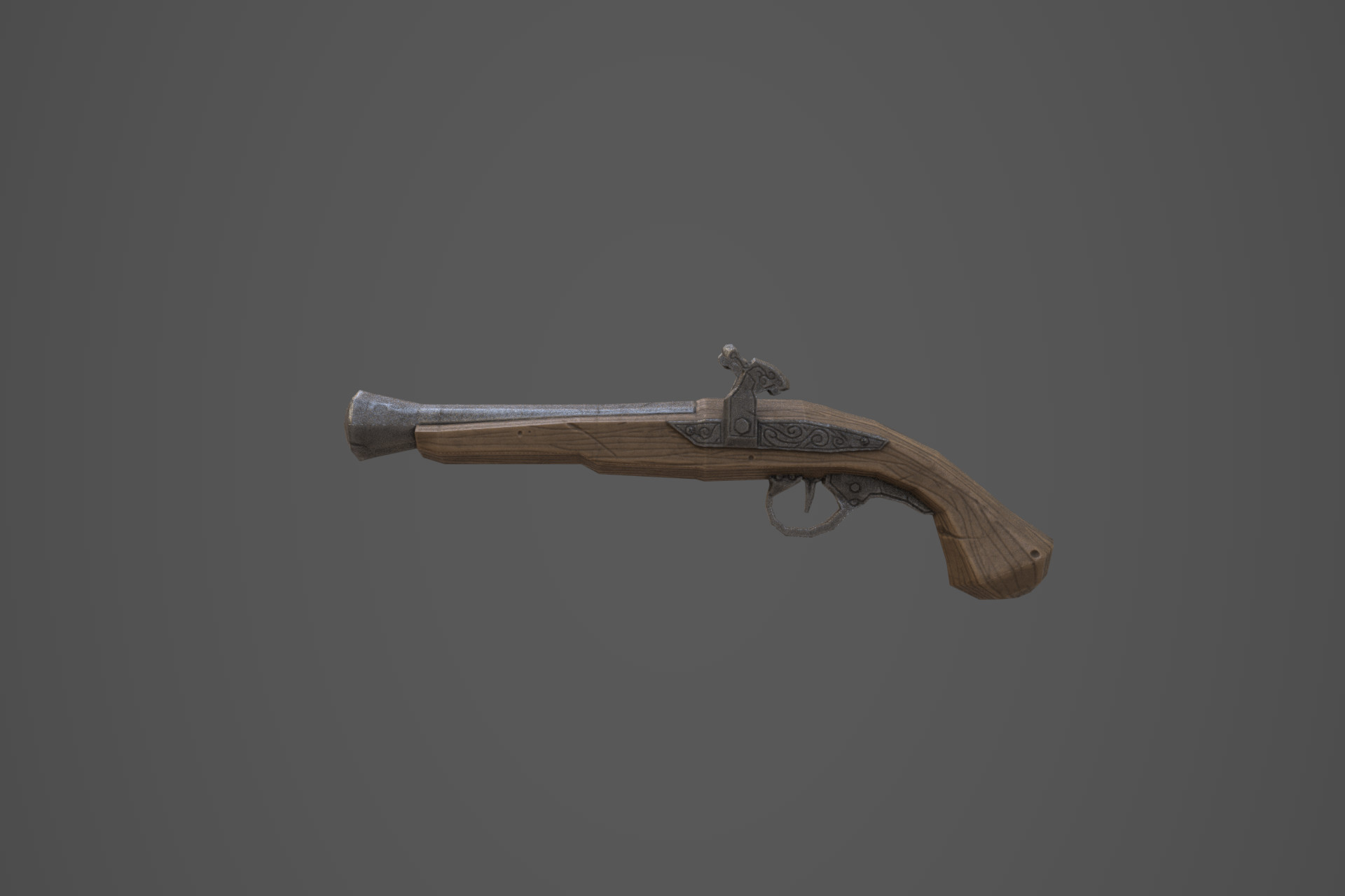 Hand Painted - Stylized Flintlock