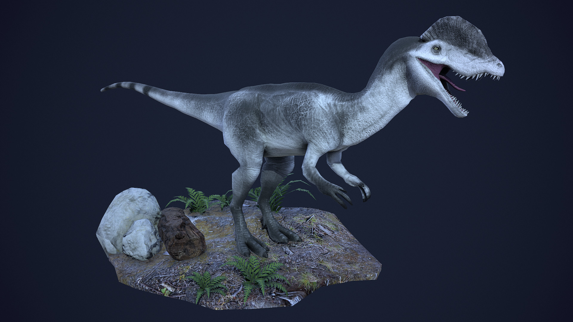 Dilophosaurus - game ready model