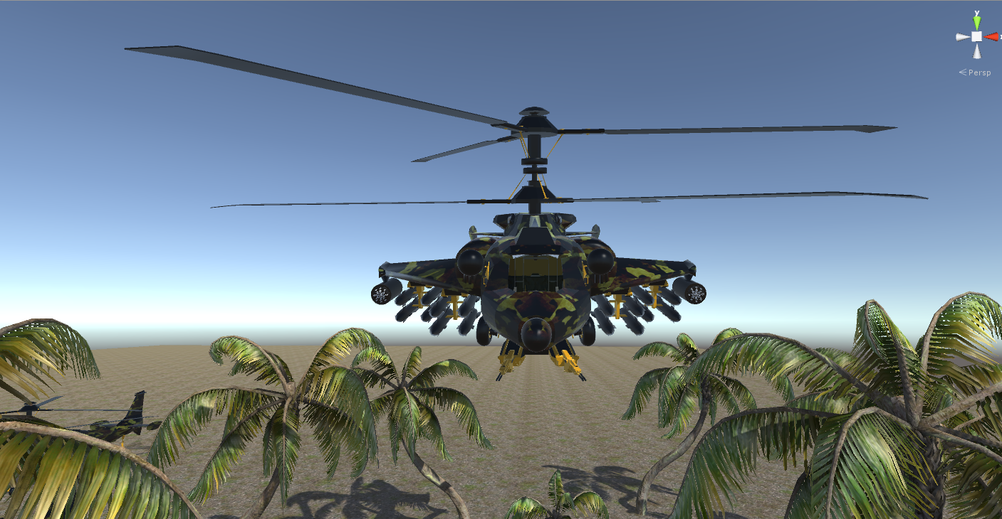 Fantasy Military Helicopter - Battle Tyrannosaurus - Jungle and Arctic Battle Bear - 3D Model for games.