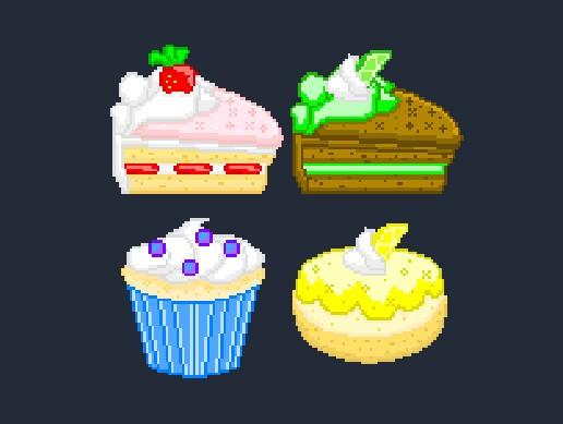 Pixel Art: Cakes