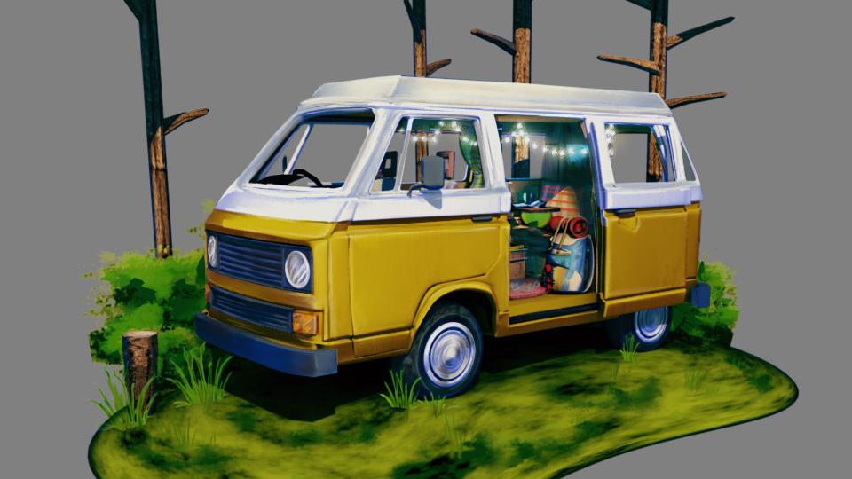 3D Stylized Bus