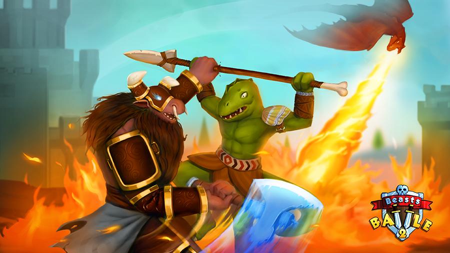 Beast battle splash screen (light version)