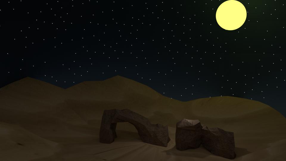 Desert night (Desert asset pack)