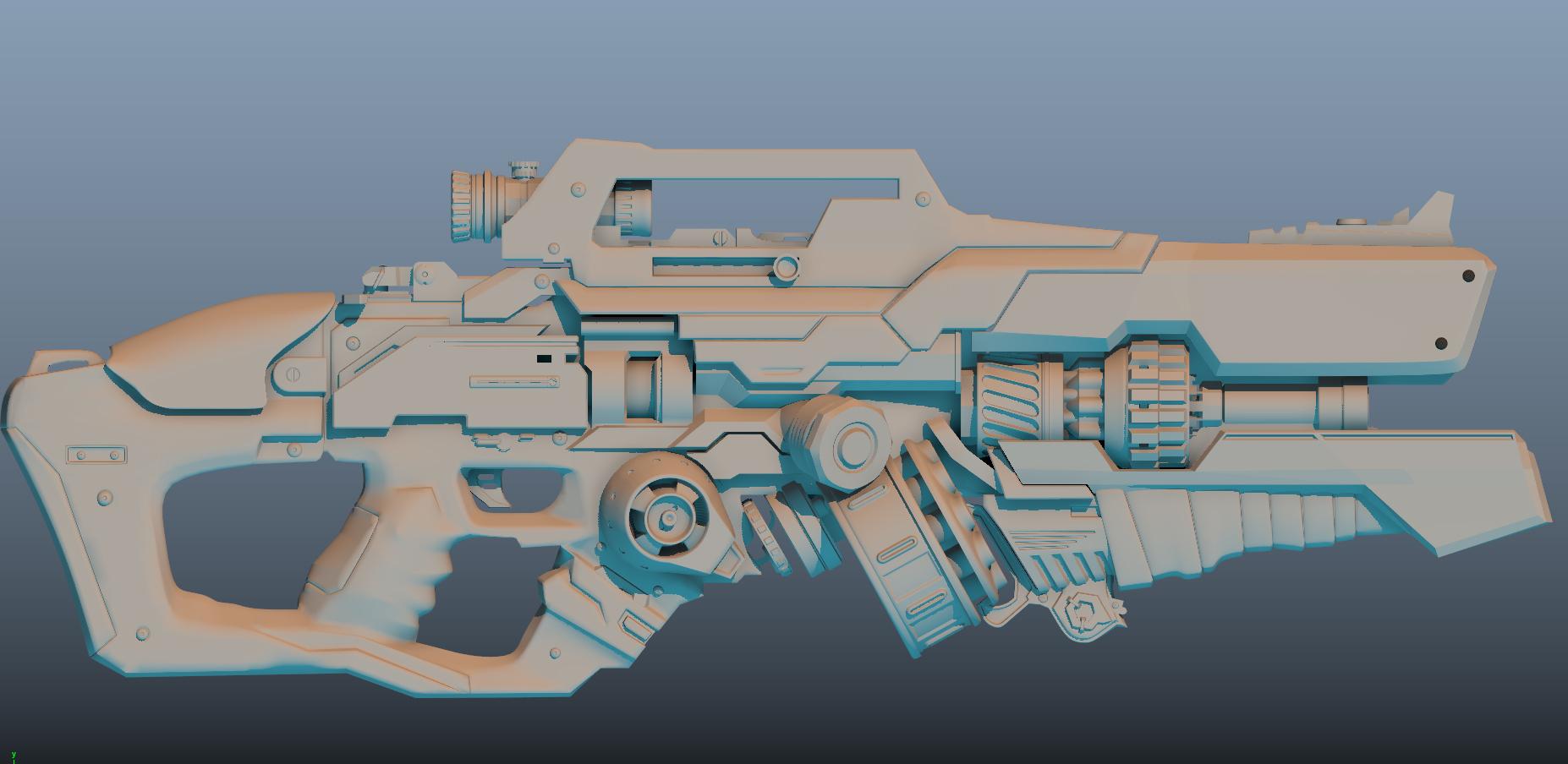 WIP - Futuristic gun