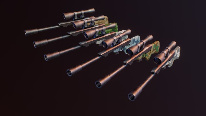 Stylized Sniper Rifle