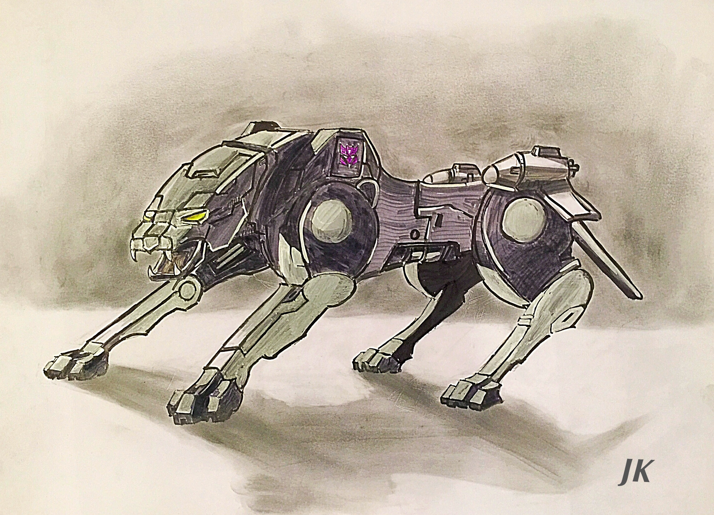 sketch transformers ravage dog