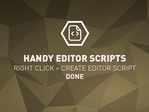 Handy Editor Scripts