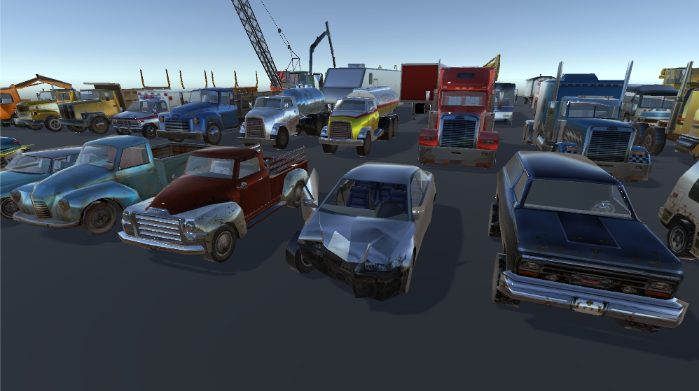Background Cars Mega Pack(45 cars)