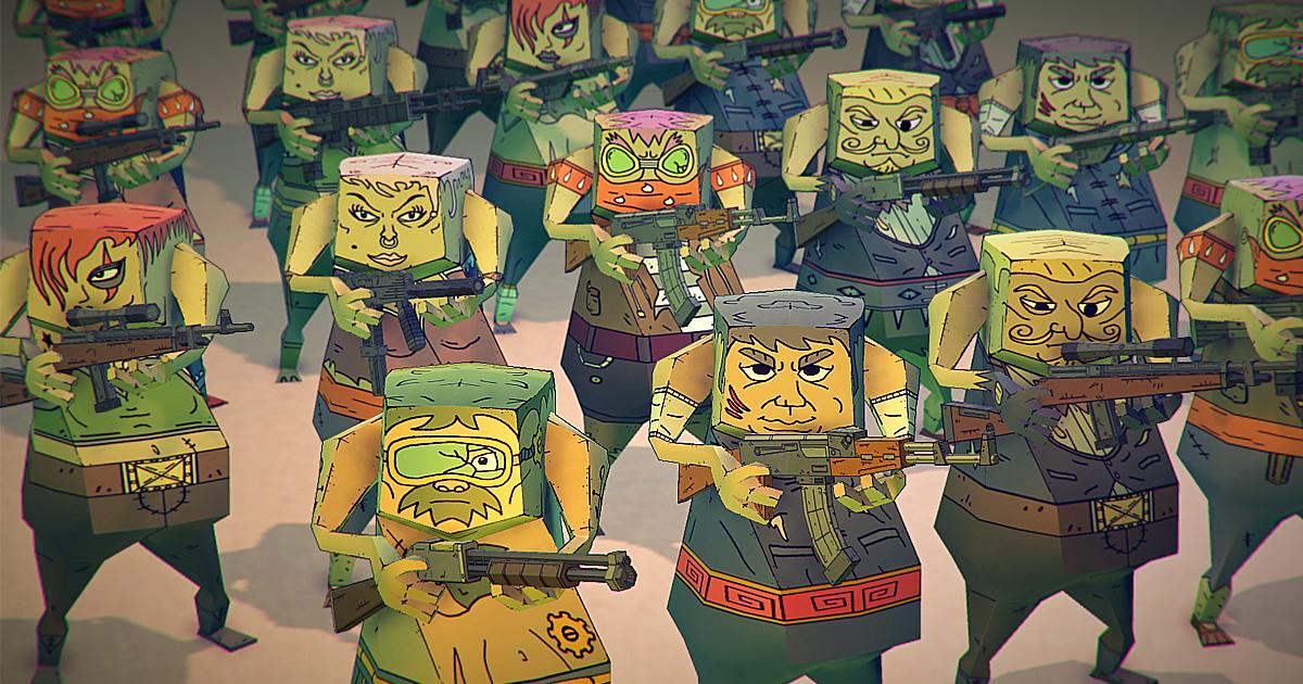 POLY STYLE - Cartoon Survivors Customizable Pack