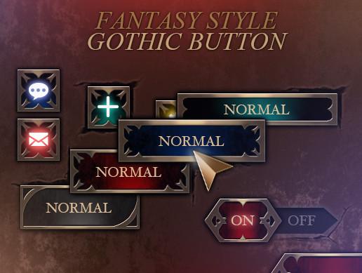 Gothic Button Set
