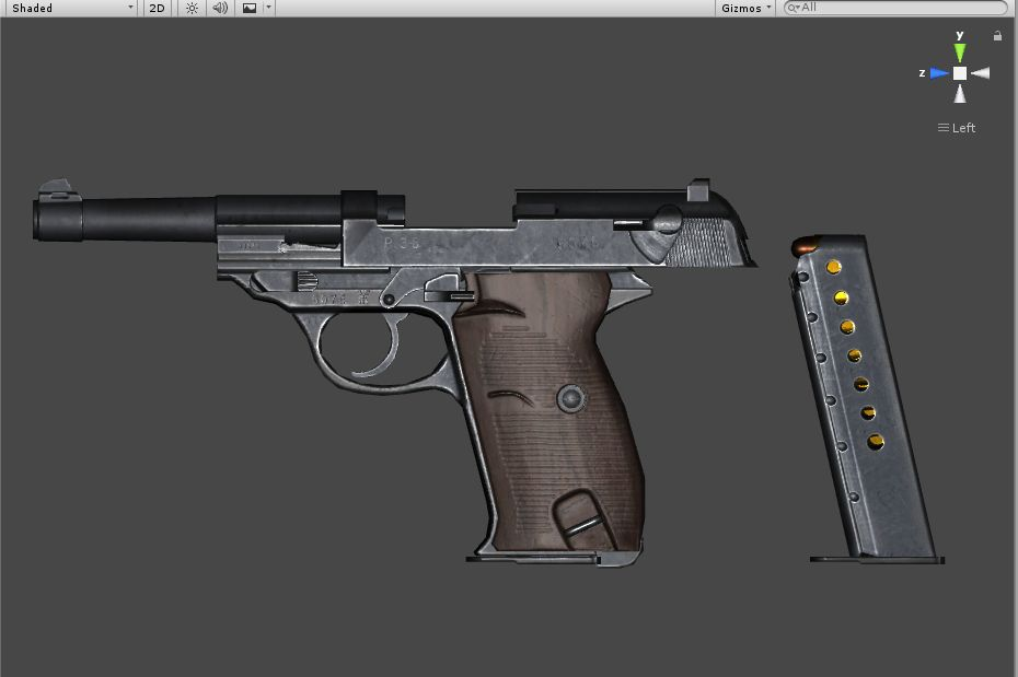 Walther P38(low polygon count)