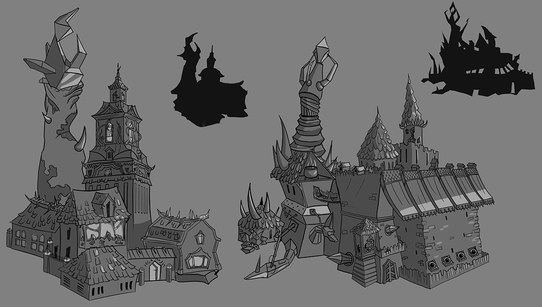Stylized houses. Work in progress