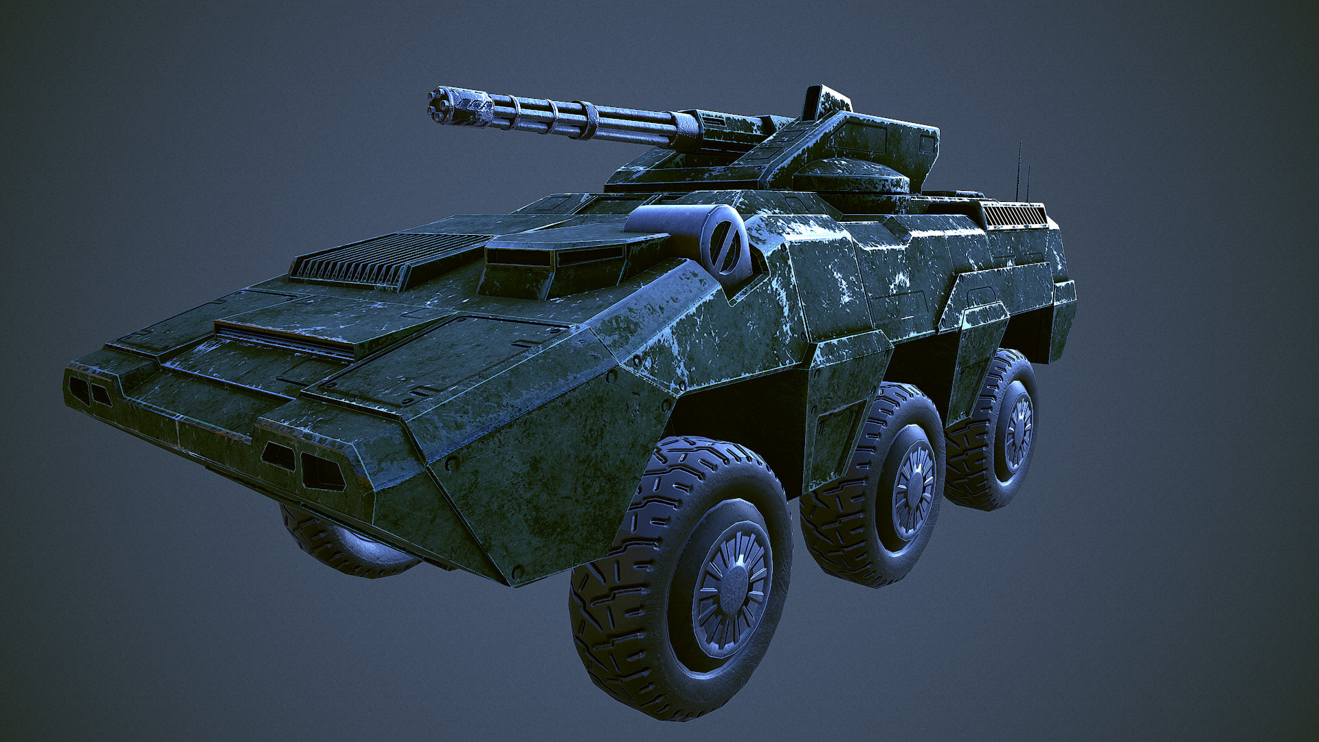 riot tank - game ready model