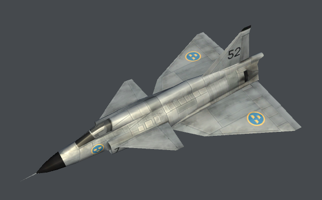 Saab Viggen (Low Poly)