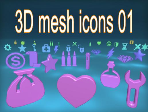 3D mesh icons 01