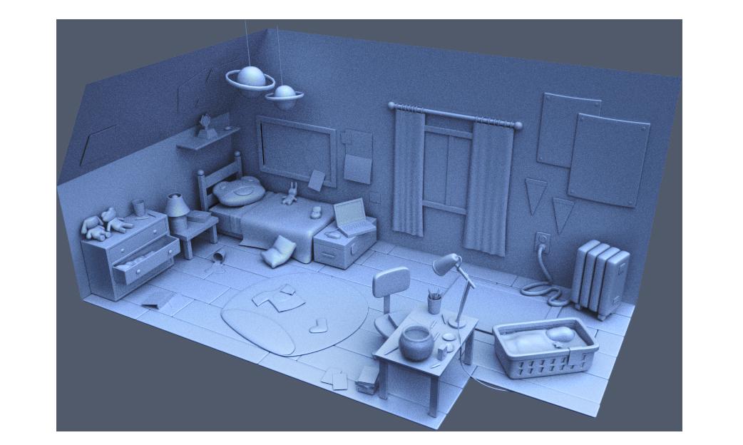 Room Enviroment 3d