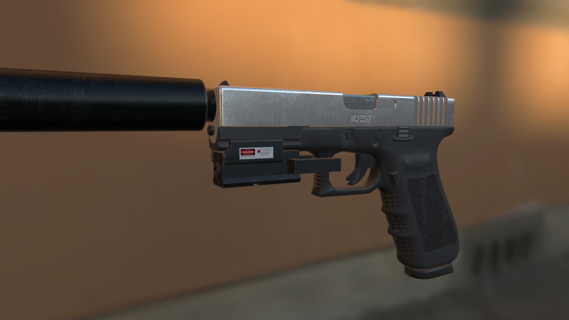 Diverse PBR Handgun