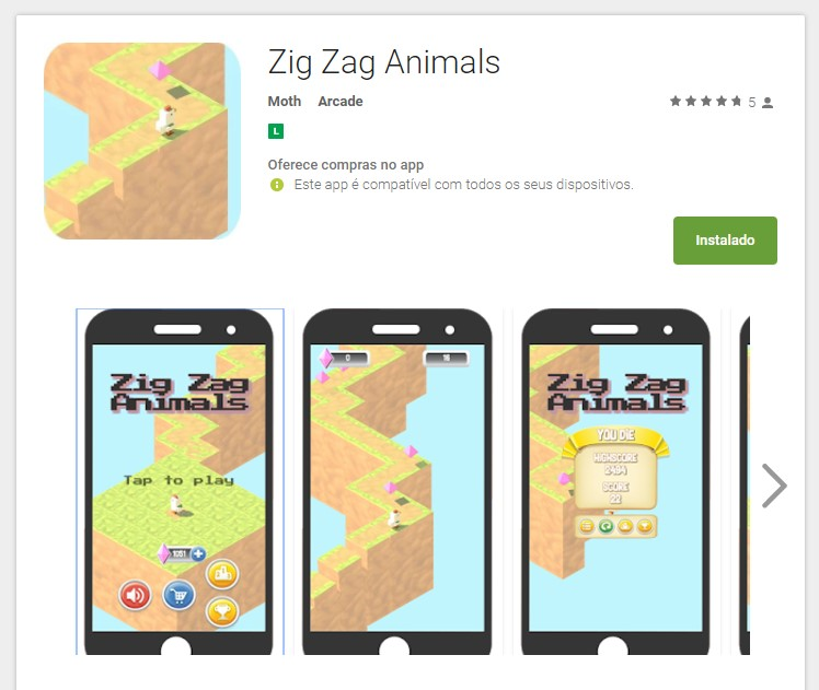 Zig Zag Animals