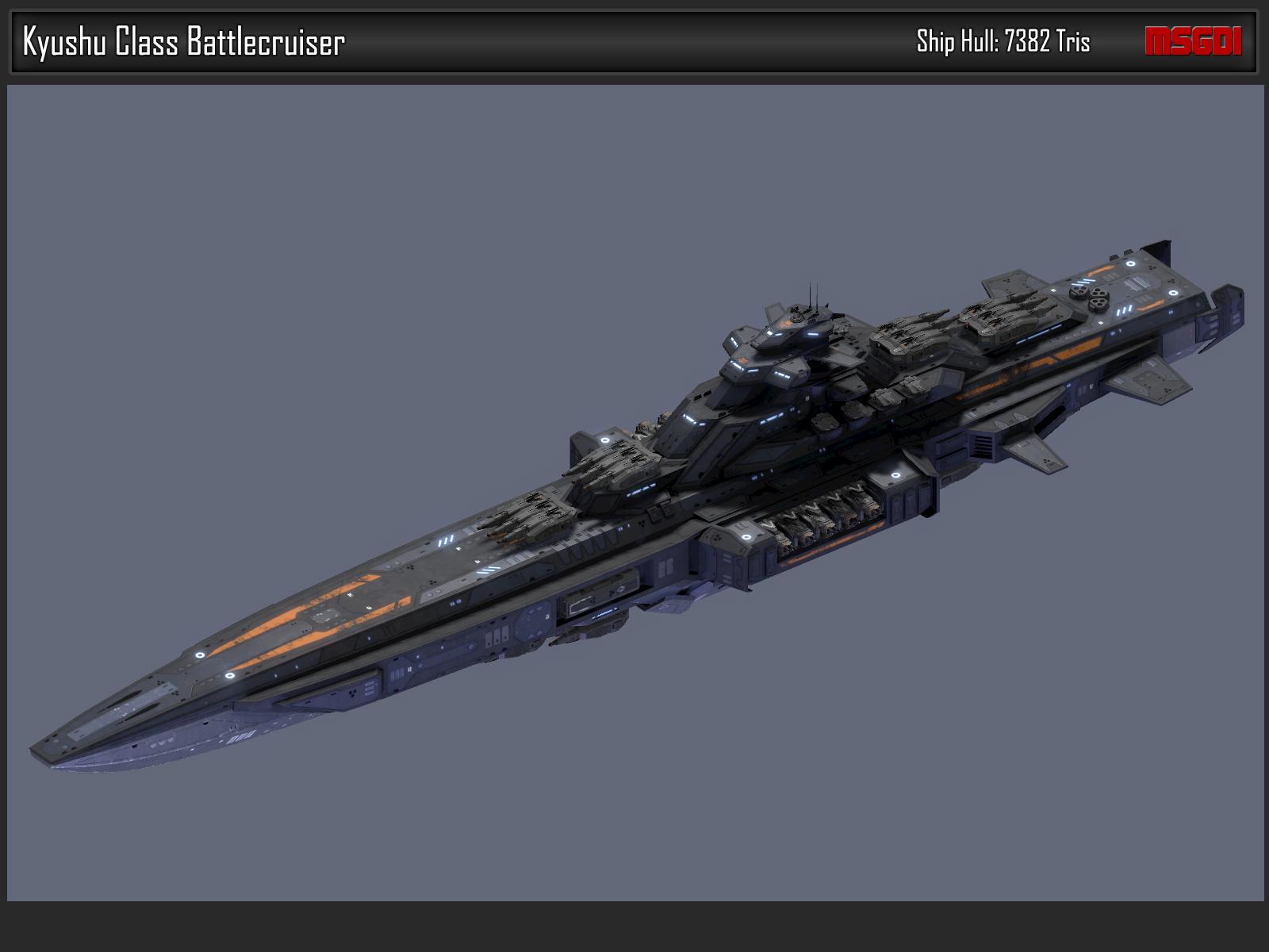 Scifi Battlecruiser Kyushu
