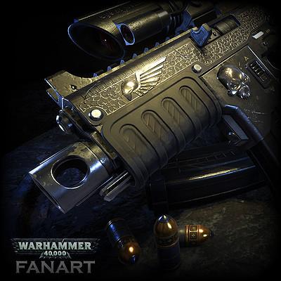 Tactical Bolter (fanart)